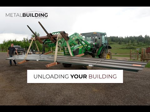 Tips For Unloading Metal Buildings Safely And Efficiently
