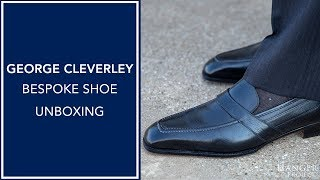 Bespoke Shoe Unboxing - Black Loafers | George Cleverley