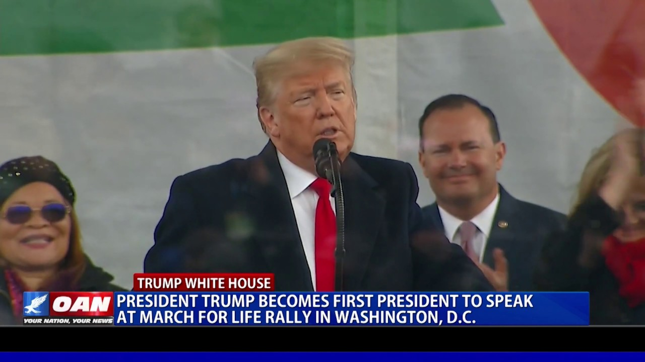 President Trump becomes first president to speak at 'March for Life' rally in D.C. - OAN