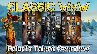 Classic WoW | Paladin Talents Overview