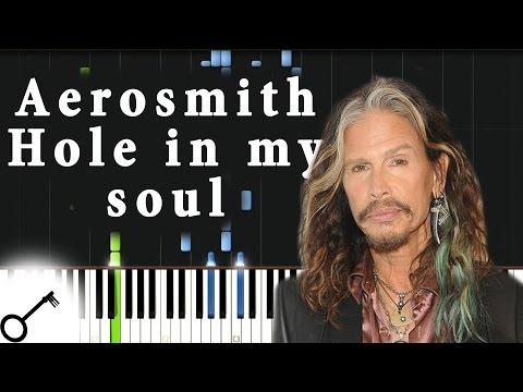 Aerosmith - Hole in my soul [Piano Tutorial] Synthesia | passkeypiano