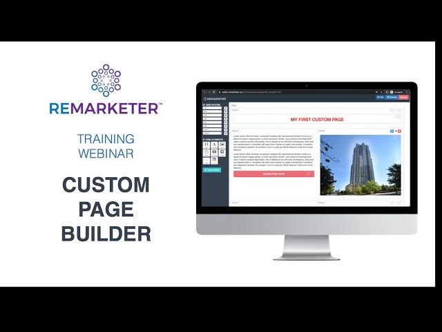 REMARKETER Trining - Custom Pages