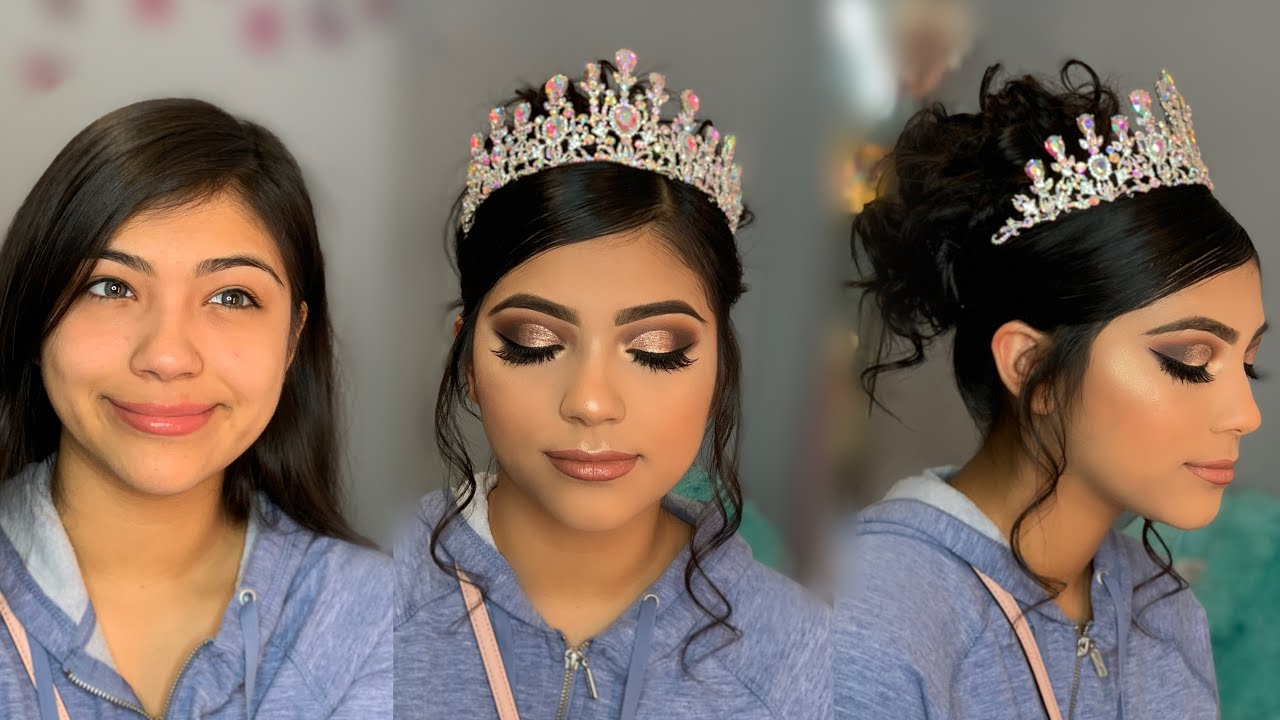 Quincea 241 Era Glam 👑 Makeup Amp Hair Tutorial Makeup By