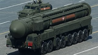 Russian Military Trucks carrying missiles in Training exercise