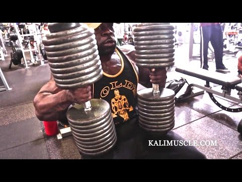 Kali Muscle Chest Workout w/ 200lb Dumbbell Press | Kali Mus