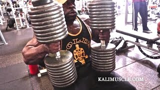 Kali Muscle Chest Workout w/ 200lb Dumbbell Press thumbnail