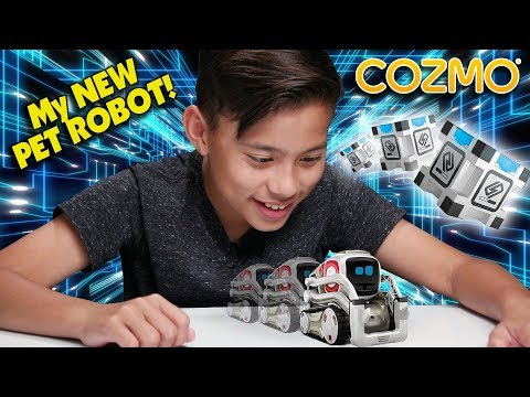 MY NEW PET ROBOT!!!  Hanging Out With COZMO! Robot Companion From Anki