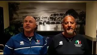 Roberto Carta Fabrizio Mattei sulla conclusione dell'Europeo Pool A di Amsterdam