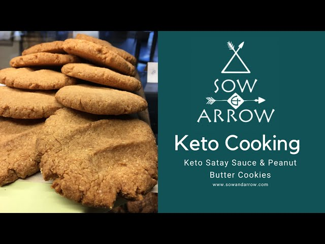 Keto Satay Curry & Peanut Butter Cookies!