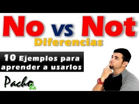Estas son las diferencias entre NO y NOT  Aprender cuándo y cómo usarlos