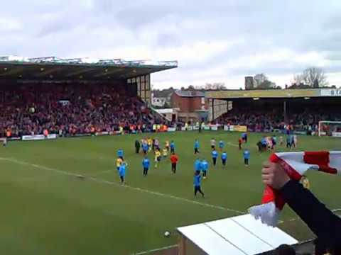 Lincoln City FC vs Torquay United FC, end of match celebrations