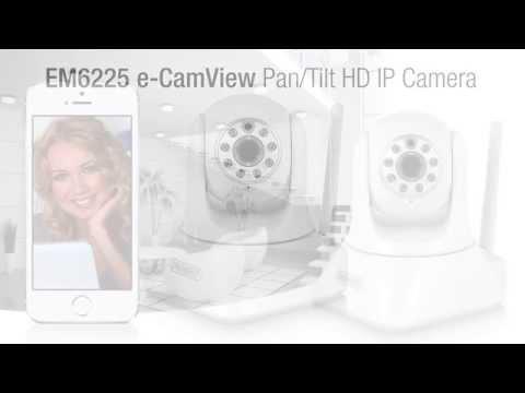 Eminent EM6225: EMINENT - E-CAMVIEW HD IP CAM PAN/TILT