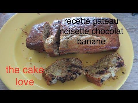 recette-gâteau-noisette-chocolat-et-banane