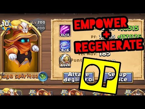 SPIRIT MAGE Skill 11 EMPOWER 8/8 + Regenerate 5! Un Maghetto DEVASTANTE! | Castle Clash ITA