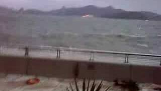 颱風黑格比下的藍灣半島海傍