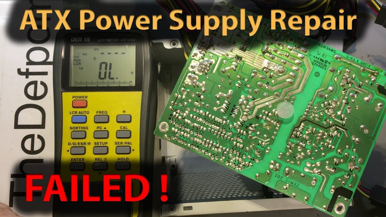 310 ATX Computer Power Supply Failed Repair - YouTube