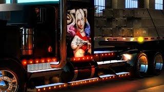 American Truck Simulator - Harley Quinn Kenworth Hod Rod - Phoenix to Barstow