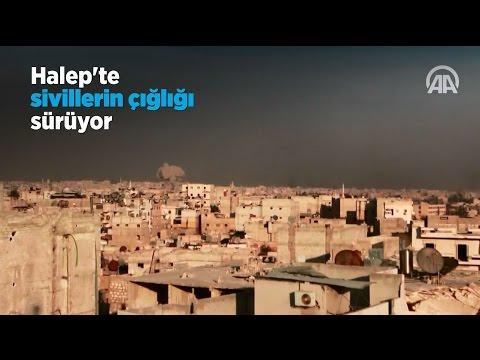 Katliam yaşanan Halep'te sivillerin çığlığı sürüyor