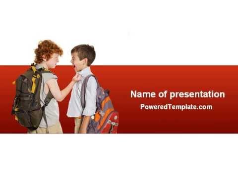 Bullying powerpoint template by poweredtemplate youtube bullying powerpoint template by poweredtemplate toneelgroepblik Choice Image