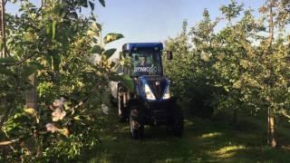 Pokaz opryskiwaczy sadowniczych KUHN - New Holland T4 80V i Opryskiwacz sadowniczy Ventis