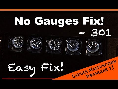 Simple fix to faulty or poorly working gauges - JEEP Wrangler YJ : Ep 20 from YouTube · Duration:  2 minutes 37 seconds