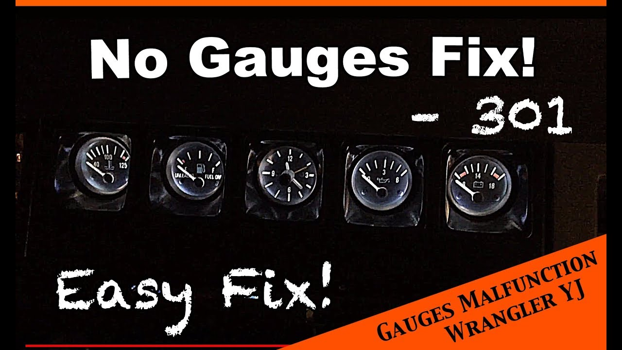 Simple Fix To Faulty Or Poorly Working Gauges Jeep Wrangler Yj Cj7 Clock Wiring Ep 20