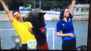 Russian TV. Yakov Potapovich - the Bear Football Soothsayer at FIFA WORLD CUP 2018.