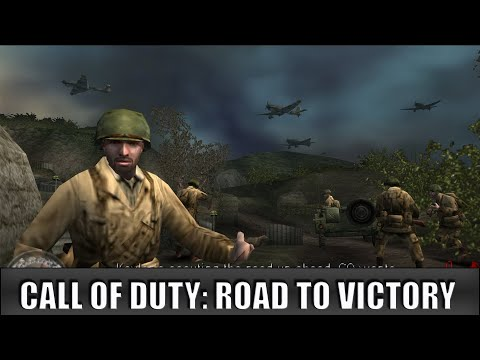 Call Of Duty: Roads To Victory - PSP Gameplay Sample - 【Longplays Land】HD