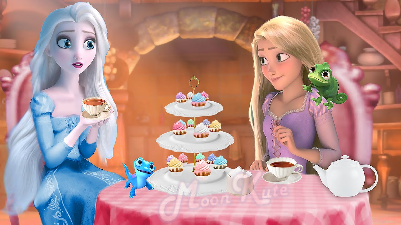 Tangled but with Elsa ! They have tea party !