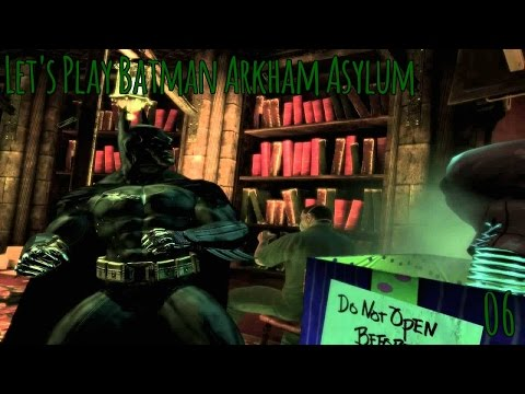 Let's Play Batman Arkham Asylum Part 6 Lost in the Library