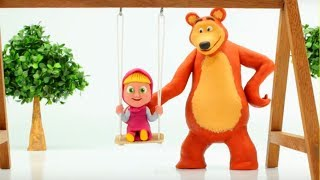 Masha And The Bear Play Doh Cartoons ❤ Frozen Elsa & Superhero Cartoons For Kids