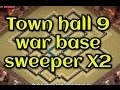 Clash of clans - NEW Update 2 Air Sweeper Town Hall 9 TH9 War Base Anti 2 Stars