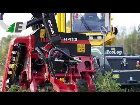 Eco Log Harvesters With Waratah Heads. Forestry Machines.