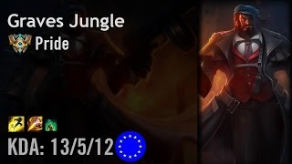 Graves Jungle vs Elise - Pride - EUW Challenger Patch 6.8