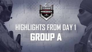 The ELEAGUE CS:GO Premier 2018 - day 1 highlights