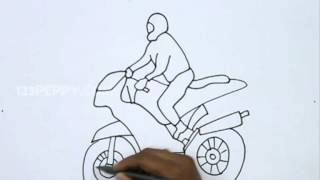 How to Draw a Moto Rider