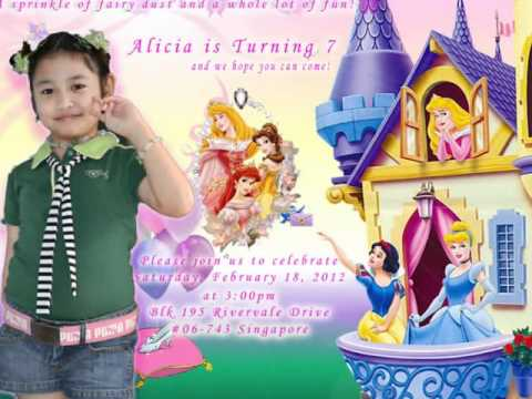 Alicia S 7th Birthday Invitation Youtube