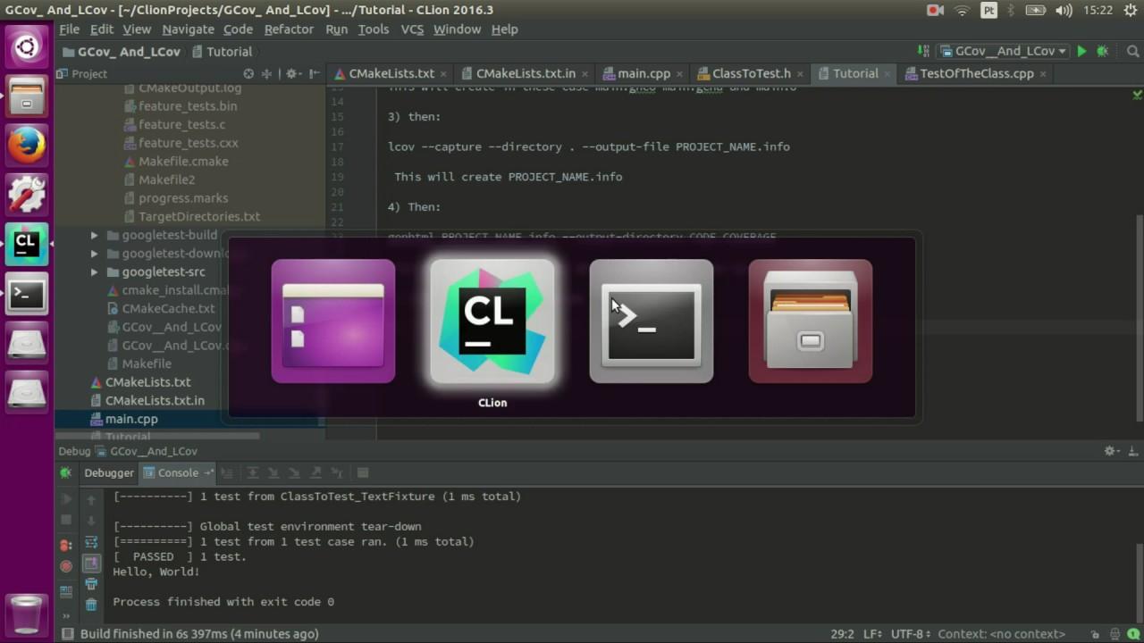 C++ Code Coverage - CMake Gcov Lcov