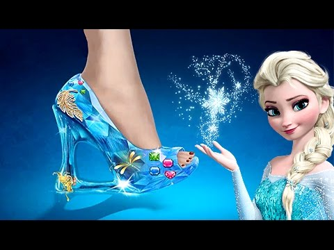 Juegos para Niñas - Diseñando la Zapatilla de Cristal de Elsa Frozen ... 8e7e120a082a