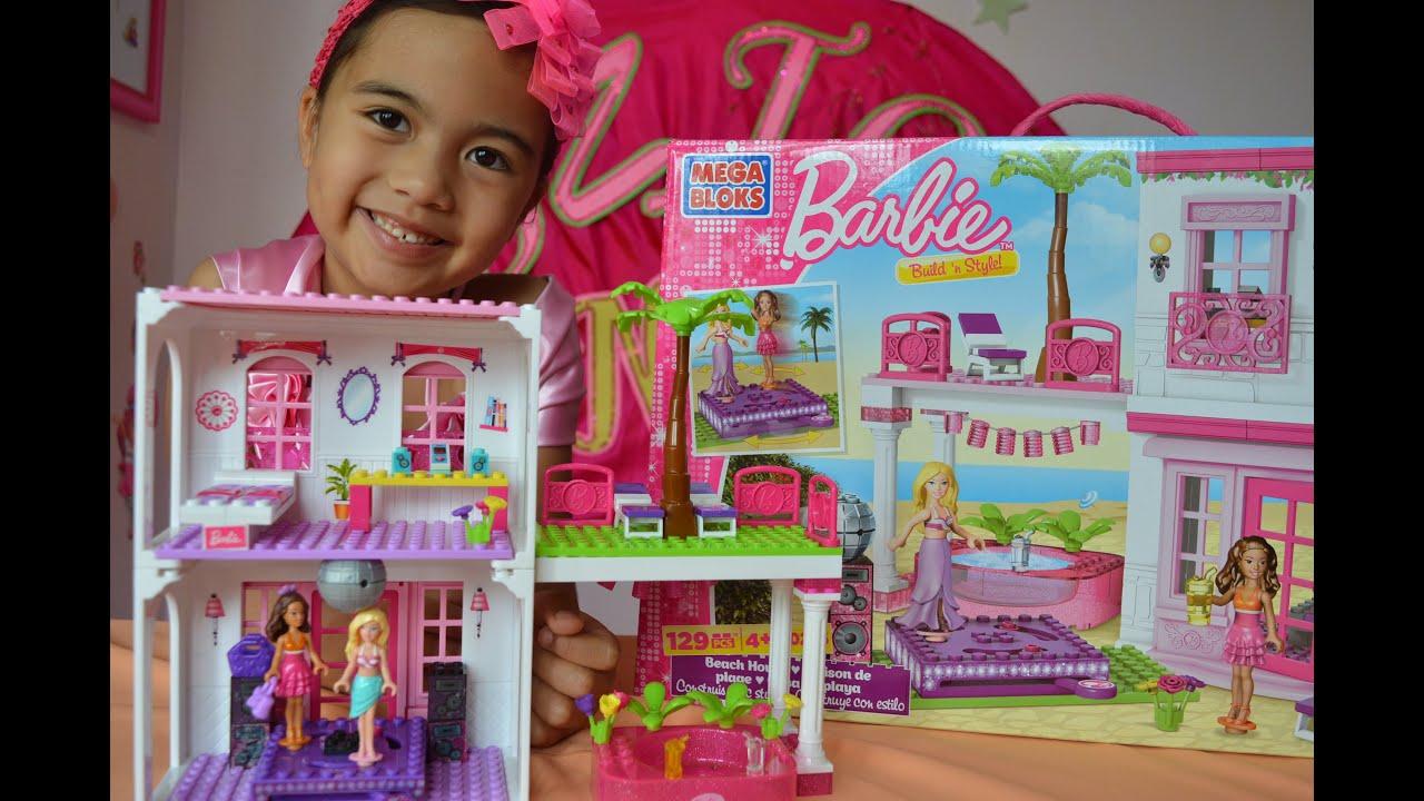 Superb Beach House Barbie Part - 13: Barbie Build Nu0027 Style Beach House Mega Bloks Barbie And Nikki L Kids  Balloons And Toys - YouTube