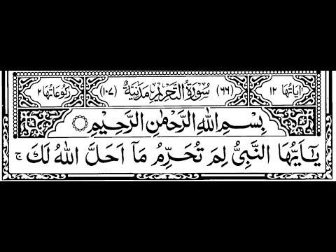 Surah At-Tahrim With Urdu Tarjuma 066    سورة التحريم    By Quran Urdu Translation