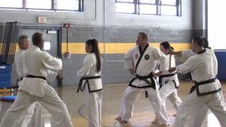 Kali Derderian Tae Kwon Do 3rd degree black belt test-triple board break 4/18/2015