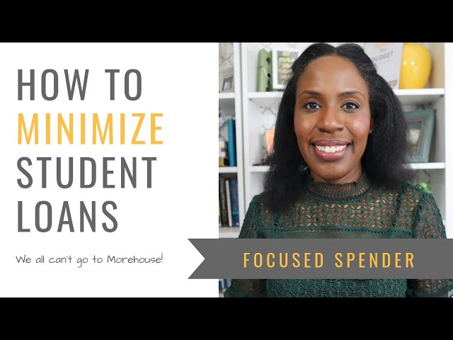 How to Minimize Student Loan Debt - Robert F. Smith Inspired