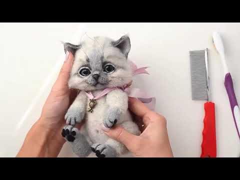 Видео мастер-класс по валянию подвижного котенка (анонс)