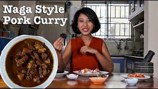 How to Cook Naga Style Smoked Pork Curry with Anishi | Naga Pork Curry Recipe YouTube Videos