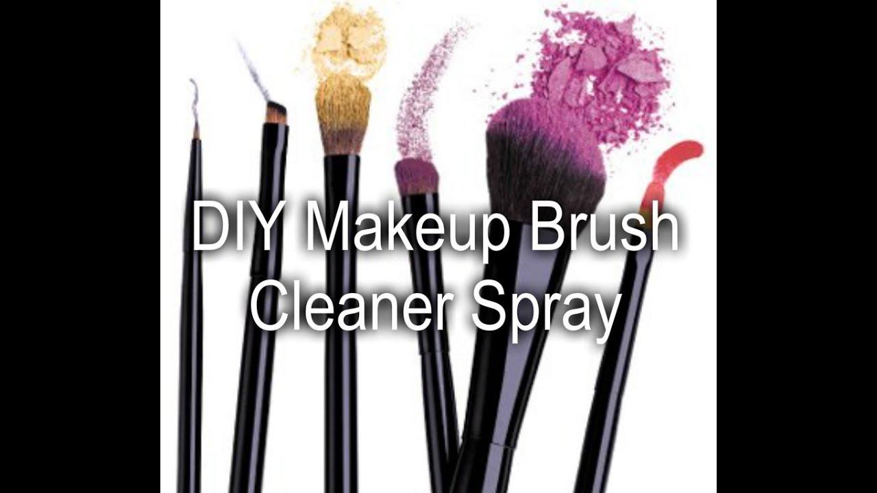 makeup brush cleaner spray. diy makeup brush cleaner spray