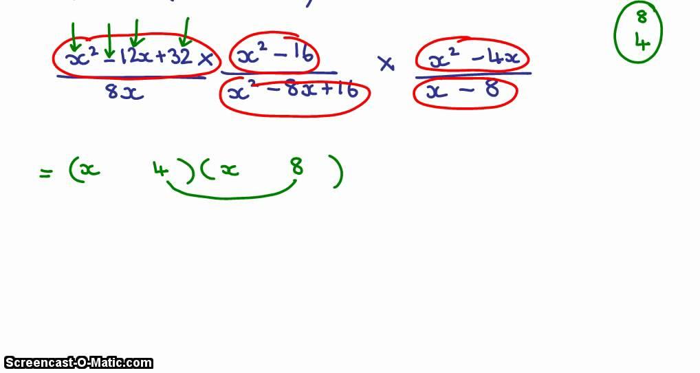 Grade 10 Algebraic Fractions Simplifying 2 Youtube