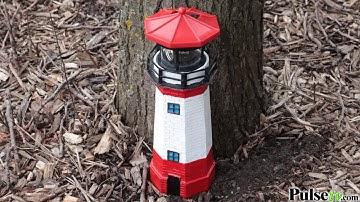 Solar Garden Lighthouse with Rotating Light