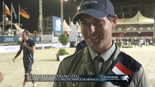Exclusive interview with emanuele gaudiano winner of longines gct grand prix du prince de monaco