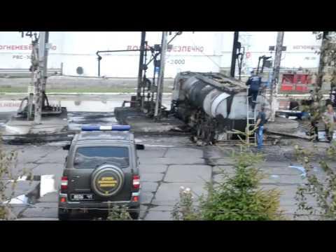 Взорванный бензовоз на нефтебазе SOCAR